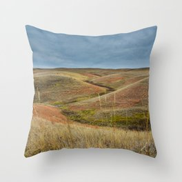 October in Grasslands National Park Throw Pillow