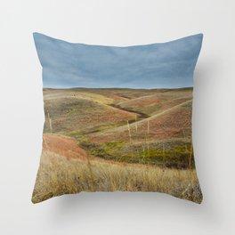 October in Grasslands National Park Throw Pillow
