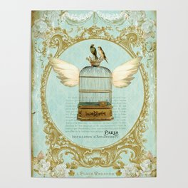 Flying Bird Cage Poster