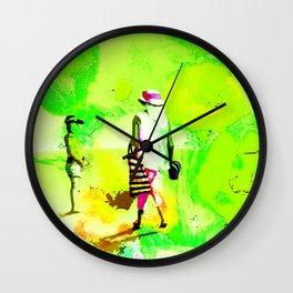 Dans jardin vert pomme Wall Clock