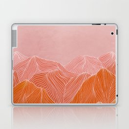 Lines in the mountains - pink II Laptop & iPad Skin