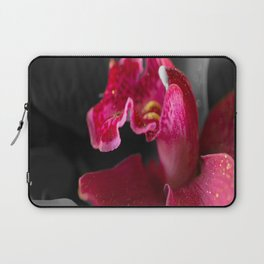 Solo Red Orchid on Grey Background #decor #society6 Laptop Sleeve