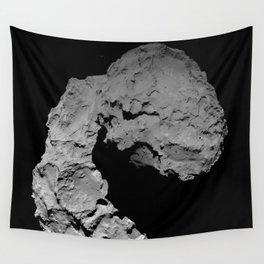 Rosetta's comet descent Wall Tapestry