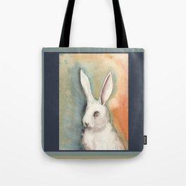 Portrait of a White Rabbit Tote Bag