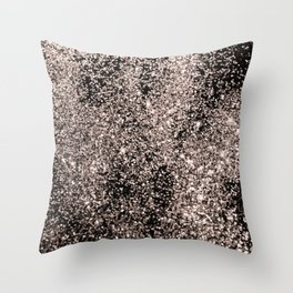 Sparkling Rose Gold Glitter #1 #shiny #decor #art #society6 Throw Pillow