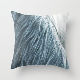 Horse mane photography, fine art print n°1, wild nature, still life, landscape, freedom Throw Pillow
