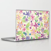 leah flores Laptop & iPad Skins featuring Flores by JuanaViEs