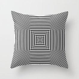 Insane Stripes Remix 3 Throw Pillow