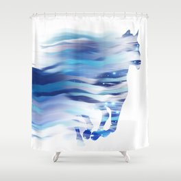Horse whispered by the wind Shower Curtain