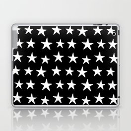 Star Pattern White On Black Laptop & iPad Skin