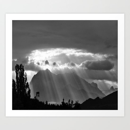 Rays From The Sky Art Print