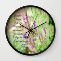 jane austen Wall Clocks featuring Mr. Darcy Proposal Jane Austen by KimberosePhotography