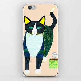 Graham the Cat with His Morning Coffee iPhone Skin