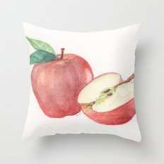 Apple and a Half Throw Pillow