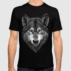 Wolf Mens Fitted Tee Black MEDIUM