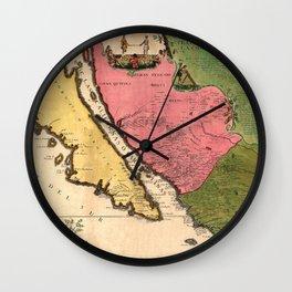 Map Of California 1720 Wall Clock