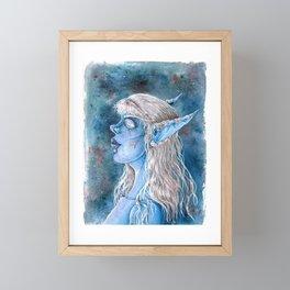 Nightborn Shal'dorei female Portrait Warcraft Fanart Framed Mini Art Print