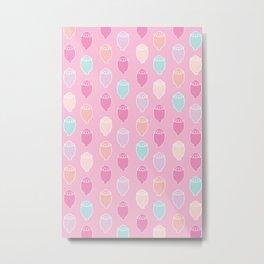 Poppy Seeds | Pink Palette Metal Print