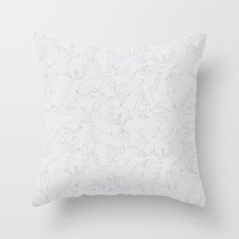 Hares Throw Pillow