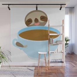 sloth & coffee Wall Mural