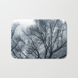 Bare Trees on a Grey Day Bath Mat