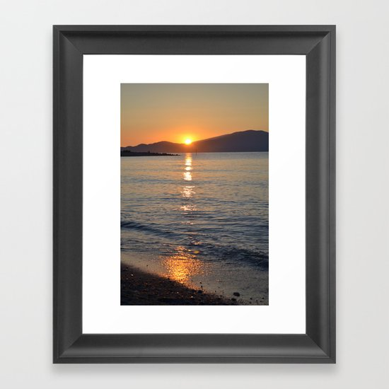 wait for tomorrow Framed Art Print