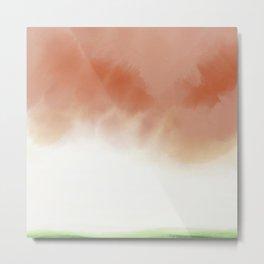 Peach Skies Metal Print