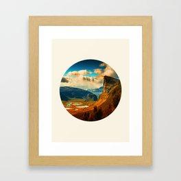 Orange Cliff Blue Sky Framed Art Print