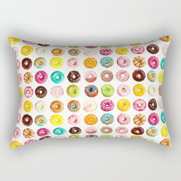 Funny Pattern With Juicy And Tasty Donuts Rectangular Pillow