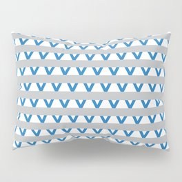 Paranoia (Grey and Turquoise) Pillow Sham