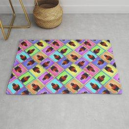 Rainbow Lorikeet Pop-Art Patchwork Mosaic! Rug
