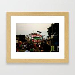 Wonder Wheel at Coney Island Framed Art Print