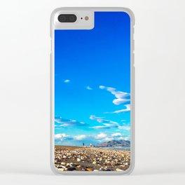 idyllic beach full of stones Clear iPhone Case