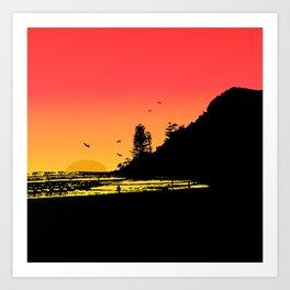 Burleigh beach Art Print