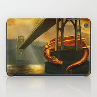 marc johns iPad Cases featuring The Dragon of the St Johns Bridge by Studio Catawampus