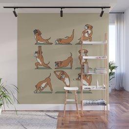 Boxer Yoga Wall Mural