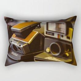 Vintage Instant Camera Rectangular Pillow