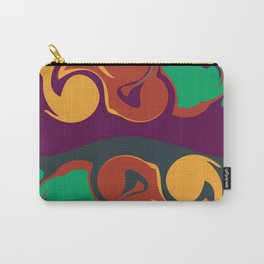 Wave Pattern Carry-All Pouch