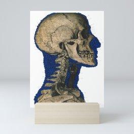 Blue Skull Mini Art Print