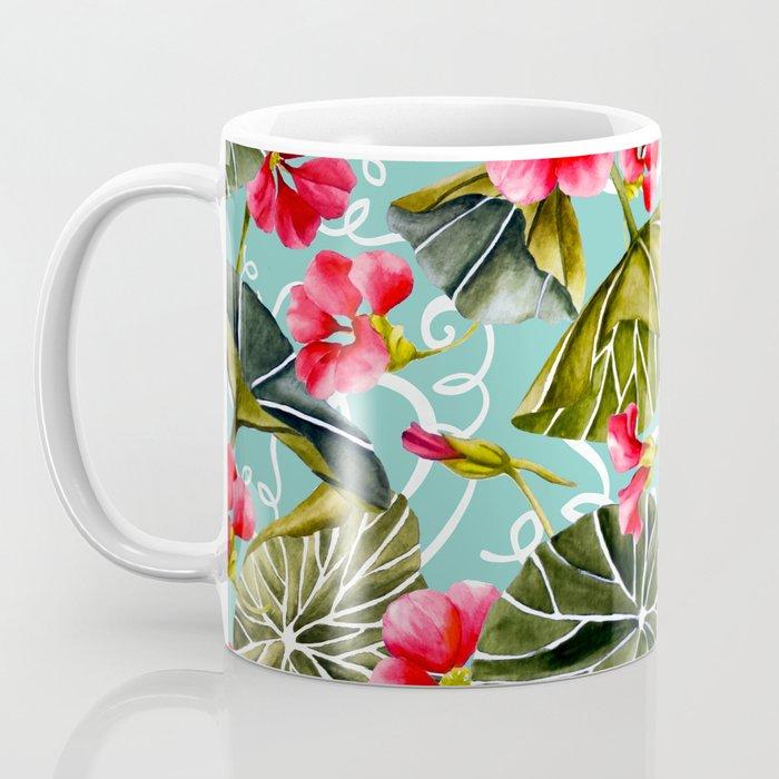 Flowering garden nasturtiums 02 Coffee Mug