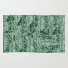 Concrete wall Green forest Rug