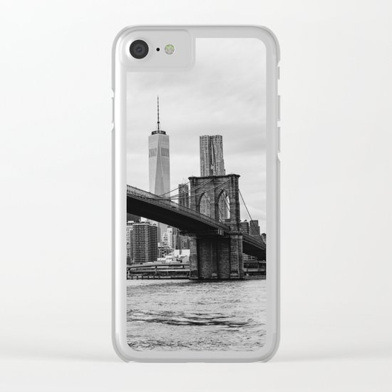 Monochrome Manhattan Clear iPhone Case
