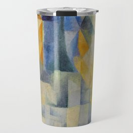 "Robert Delaunay ""Simultaneous Windows onto the City"" (1st Part, 2nd Motif, 1st Replica) Travel Mug"
