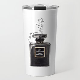 Black parfum with girl Travel Mug