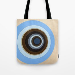 blue and brown circles Tote Bag