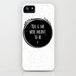 LOVE - You & me were meant to be by Lo Lah Studio iPhone Case