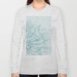 Dandelion In Blue Long Sleeve T-shirt