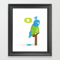 Depressed Parrot Framed Art Print