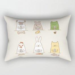 animals on social media Rectangular Pillow