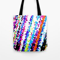 80s Tote Bags featuring 80s by margalit romano